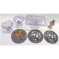 Glass, Plates, Serving Dish & Collectibles