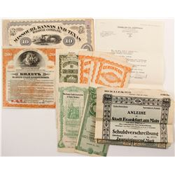 U.S. & Foreign Stock Certificates & Bonds