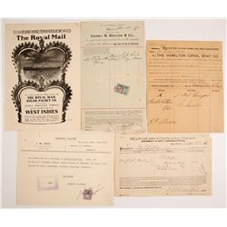 Various Steamer & Shipment Receipts