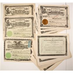 Death Valley Copper Mining Stock Certificates