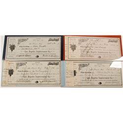 Four Los Angeles Improvement Co. Stock Certificates