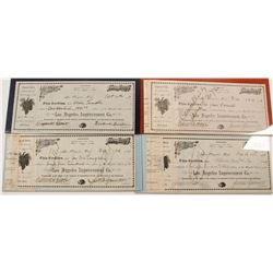 Four Los Angeles Improvement Co. Stock Certificates
