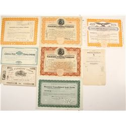 California Mining Stock Certificates & More