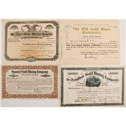 Ivanhoe Gold Mining; Edgar Union Mining; Summit Gold Mining; Old Gold Mines Co.