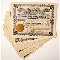 Goldfield Daisy Mining Syndicate Stock Certificate Collection