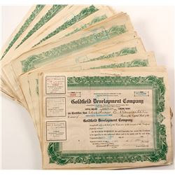 Goldfield Development Co. Stock Certificate Archive