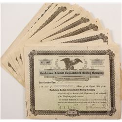 Sandstorm-Kendall Cons. Mining Co. Stock Certificate Collection