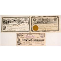 Mining Stock Certicates
