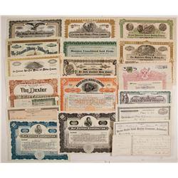 Group of Mining Stock Certificates & Bonds