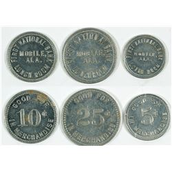 First National Bank Lunch Room Tokens
