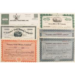 Stock Certificates (6) Misc.