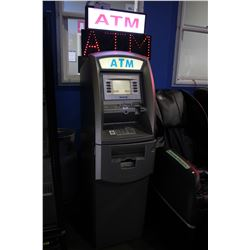 TRANAX ATM MACHINE - WORKING ORDER, NO SAFE CODE, INCLUDES LED ATM SIGN