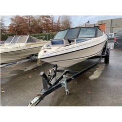CORSAIR 185 BOAT WITH TRAILER. NO REGISTRATION