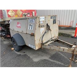 2000 LEROI COMPRESSOR ON TRAILER, BROWN ,VIN # 4YEAA1210YA200033
