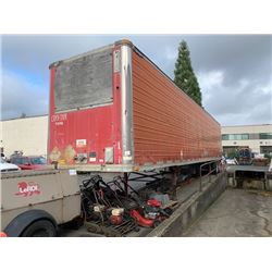 1997 GREAT DANE 53' TRAILER, WHITE (RED ON REG), VIN#1GRAA0621VW013540, NO ICBC DECLARATIONS, OOP,