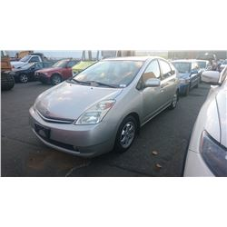 2005 TOYOTA PRIUS, GREY, 4DRSD, GAS/ELECTRIC, AUTOMATIC, VIN#JTDKB20U557009602, 79,971KMS,