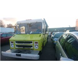 1973 GMC 2WHDR, VAN, XFIRE, GAS AUTOMATIC, VIN#TPY353V501091, YELLOW, TMU (IN MILES), STORAGE IN