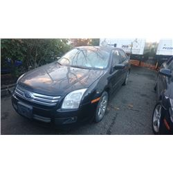 2007 FORD FUSION, BLACK, GAS, AUTOMATIC, *NO KEYS, NOT ROADWORTHY MUST TOW*,