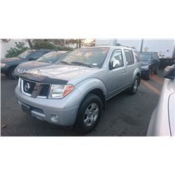 2006 NISSAN PATHFINDER, GREY, GAS, AUTOMATIC