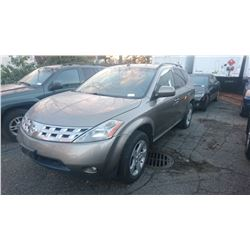 2004 NISSAN MURANO, BROWN, GAS, AUTOMATIC,