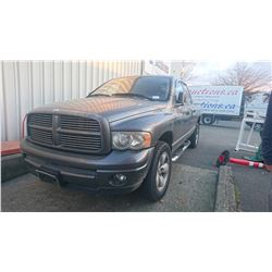 2003 DODGE RAM 1500, GREY, PICKUP, GAS, AUTOMATIC, *NOT ROADWORTHY MUST TOW*,
