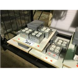 3 120-240V JUNCTION BOXES WITH TIMER