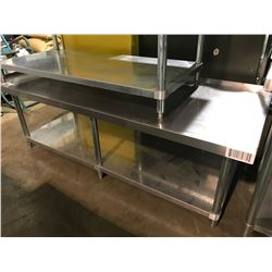 "73"" X 30"" X 24"" 2 TIER STAINLESS STEEL EQUIPMENT TABLE"