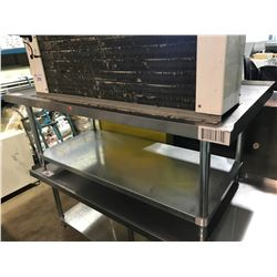"60"" X 30"" X 25"" 2 TIER STAINLESS STEEL EQUIPMENT TABLE"