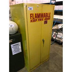 2 DOOR YELLOW FLAMMABLE STORAGE CABINET