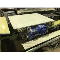 """JANTEC TV-NR 4837 48"""" X 40"""" CONVEYER WITH SUMITOMO 3 PHASE INDUCTION MOTOR"""