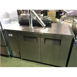 TRUE TDD-2-S STAINLESS STEEL 2 DOOR COMMERCIAL DRAFT BEER SYSTEM WITH 2 TAPS, HOLDS 2 KEG CAPACITY