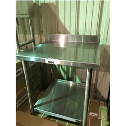 QUEST METAL SMALL STAINLESS STEEL PREP TABLE