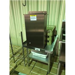 EFI STAINLESS STEEL EQUIPMENT STAND, WITH DISPOSAL TANK, DISHWASHER TRAYS, AND SMALL RESTAURANT