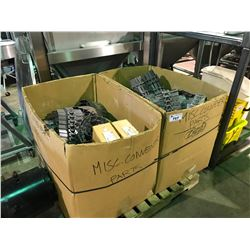 PALLET OF MISC PLASTIC CONVEYOR PARTS
