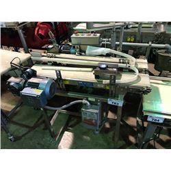 STAINLESS STEEL DUAL POWERED BELT CONVEYOR SYSTEM