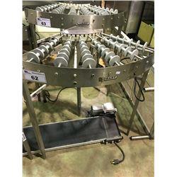 HOBART 90P CORNER STAINLESS STEEL CONVEYER SYSTEM