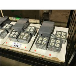 4 120-240V JUNCTION BOXES WITH TIMER