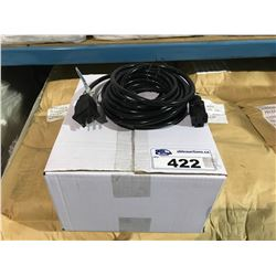 BOX OF 10 MALE LAMP CARD EXTENSION WITH 120B FEMALE CONNECTOR
