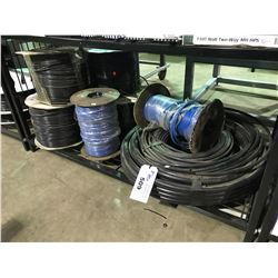 SHELF OF ASSORTED AGRICULTURAL TUBING