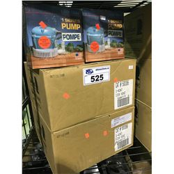 3 BOXES OF LITTLE GIANT 1 SERIES GARDEN PUMPS