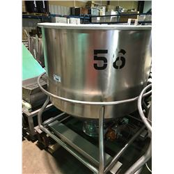 STAINLESS STEEL LARGE QUART MOBILE STORAGE STANK