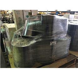 PALLET OF ASSORTED ROLLS OF PVC PLASTIC