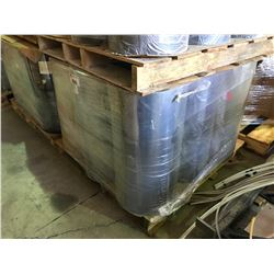 PALLET OF THICK GREY ROLLS OF PVC PLASTIC