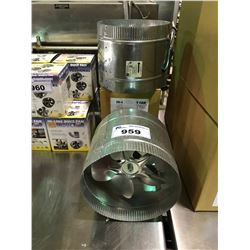 "3, 10"" 2 SPEED INLINE DUCT FANS"