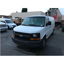 2004 CHEVROLET EXPRESS VAN, WHITE, GAS, AUTOMATIC, VIN#1GCFG25X841129899, TMU, DEAD BATTERY WON'T