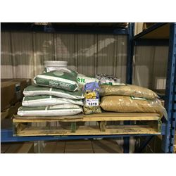 PALLET OF ASSORTED PLANT STARTER & PLANT FERTILIZER AND SUPPLEMENTS