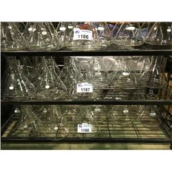SHELF OF 15 PYREX 2800ML LAB GLASS