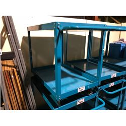 BLUE 2 TIER MOBILE WAREHOUSE TROLLEY