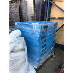 9 BLUE PLASTIC PALLETS