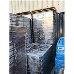 LARGE PALLET OF BROWN PLASTIC TRANSPORT BINS